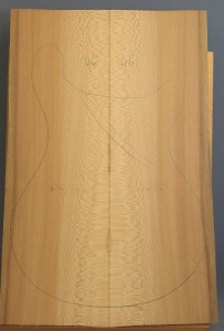 Lacewood guitar top number 46 type 'B'