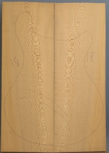 Lacewood guitar top number 18 type 'A'