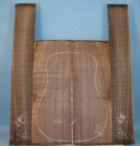 Indian rosewood guitar back and sides CAAA*