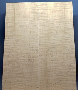Curly maple guitar top number 6 type 'A'  strong figure