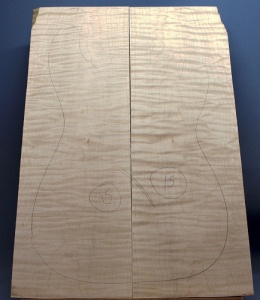 Curly maple guitar top number 15 type 'B'  highest figure