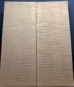 Curly maple guitar top number 11 type 'B'  highest figure