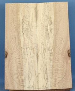 Spalted lacewood guitar top number 16 type 'A'