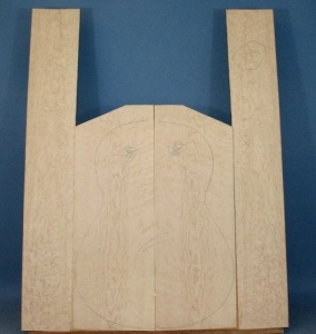 Birds eye maple guitar set CA* no 8
