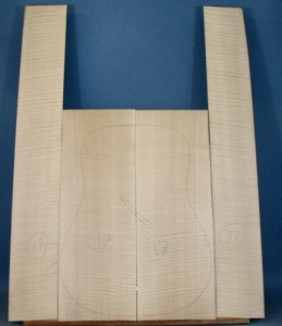 Ripple maple guitar back and sides WAAA*** no  17