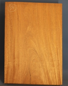 Honduras mahogany single piece body blank no 34