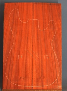 African padauk guitar top type 'B' number 17