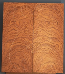 Bubinga guitar top number 3 type 'B'