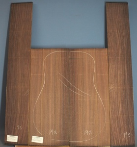 Indian rosewood guitar back and sides WAAA** no 192