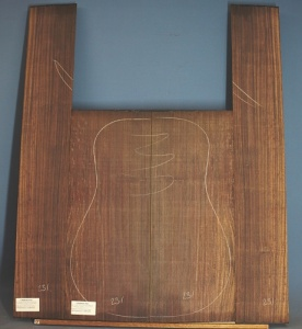 Indian rosewood guitar back and sides WAAA no 231