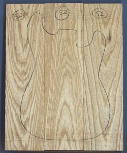 Swamp ash three piece body blank no 52