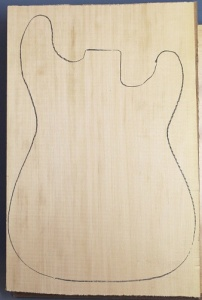 Basswood single piece body blank