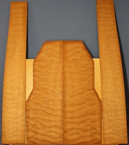 Quilted mahogany guitar set no 5