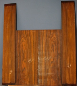 Cocobolo guitar back and sides set WAA*