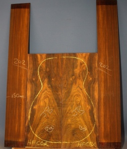 Cocobolo guitar back and sides set no 202