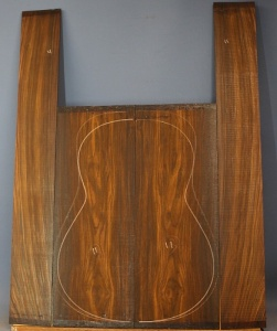Cocobolo guitar back and sides set no 11