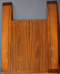 Madagascar rosewood guitar back and sides set classic size