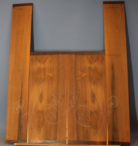 Madagascar rosewood guitar back and sides no 101