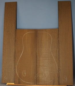 Wenge guitar back and sides set no 3
