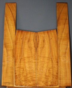 Hawaiin Koa guitar back and sides set WAAA* number 64