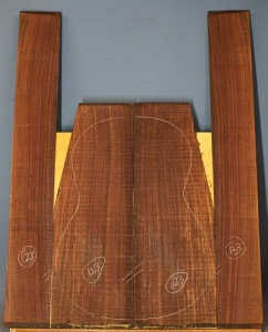 Indian rosewood guitar back and sides CAAA* no 123