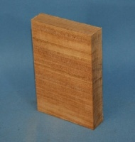 Honduras mahogany tail block 80 x 120 x 20mm