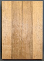 Black limba heart sap two piece body blank select grade