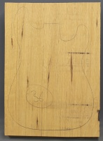 White limba single piece body blank standard grade