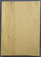 White limba single piece body blank select grade