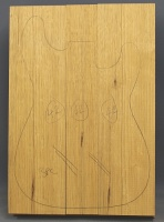 White limba three piece body blank standard grade