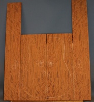 Bubinga guitar back and sides set no 14