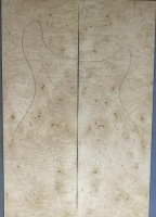 Burr maple guitar top number 4 type 'B' strong figure