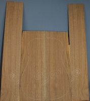 American black walnut guitar back and sides set number 58