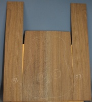American black walnut guitar back and sides set number 57