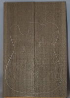 Bog oak guitar top type 'B' no 1