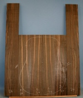 Macassar ebony guitar back and sides number 24