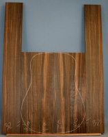 Macassar ebony guitar back and sides number 32
