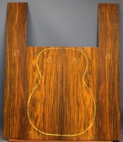Cocobolo guitar back and sides set no 69