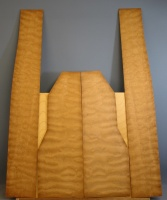 Quilted mahogany guitar set no 8
