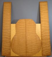 Quilted mahogany guitar set no 11