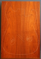 African padauk guitar top type 'B' number 207