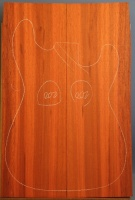 African padauk guitar top type 'B' number 200