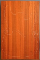 African padauk guitar top type 'B' number 199