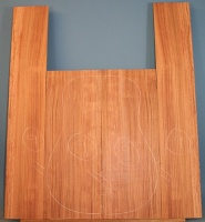 Bubinga guitar back and sides set