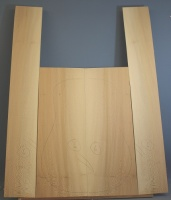 Lacewood guitar back and sides WAAA* no 6