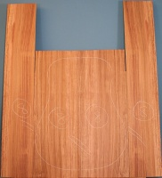 Bubinga guitar back and sides set no 8