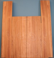 Bubinga guitar back and sides set no 7