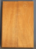Honduras mahogany  two piece body blank no 14