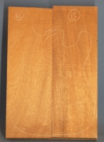 Honduras mahogany two piece body blank no 13