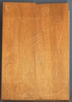 Honduras mahogany two piece body blank no 12
